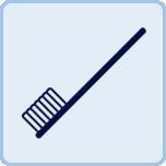 歯ブラシはご持参もしくはご購入